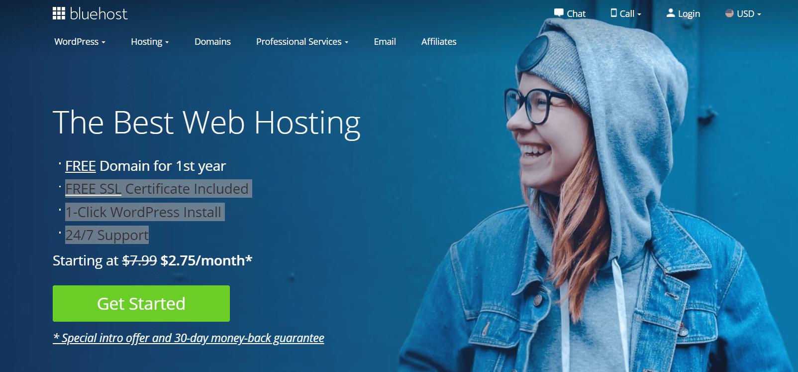 Bluehost- the best web hosting Platform