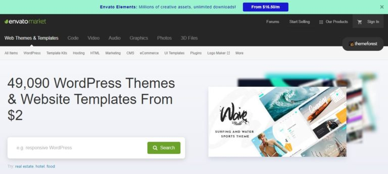 ThemeForest Black Friday Deal Homepage