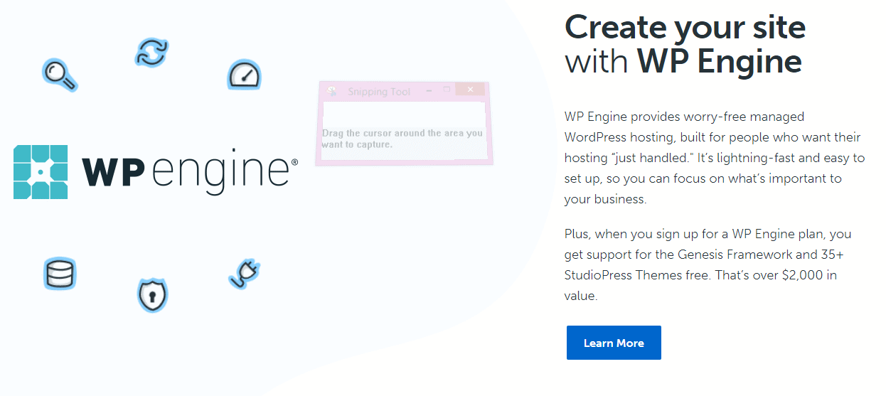 create site with wp engine