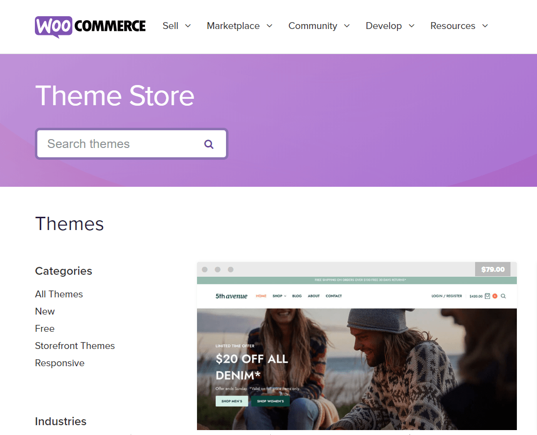 Theme Store- WooCommerce