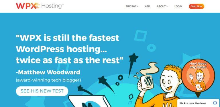 WPX Hosting Black Friday Homepage