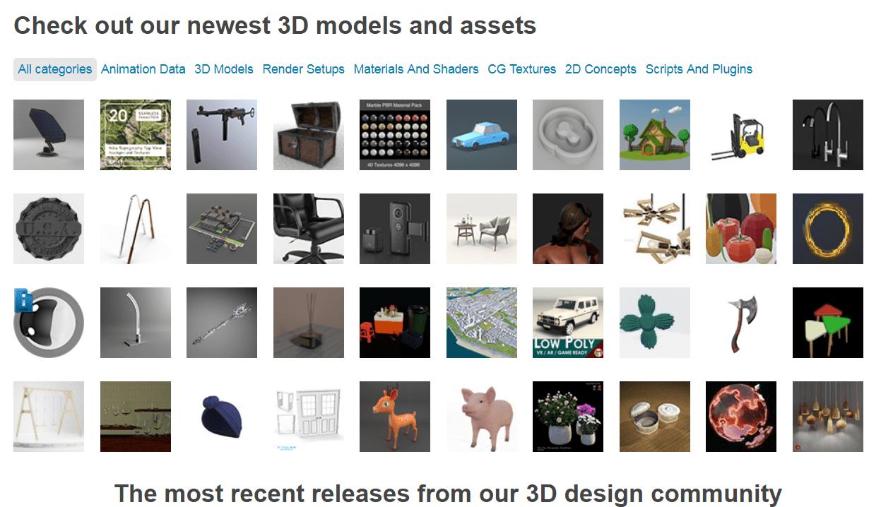 envato market 3D files