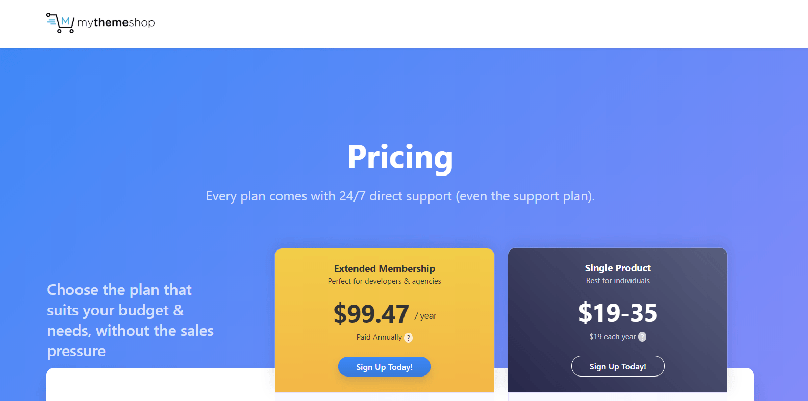 My ThemeShop Black Friday Deal- Pricing