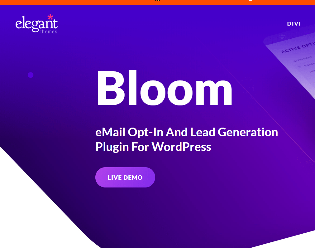 elegant themes black friday deals- bloom email opt-in