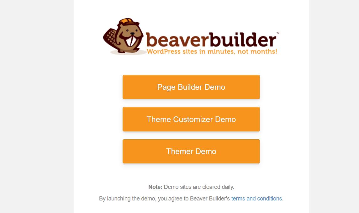 page builder demo