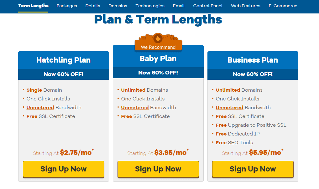 Hostgator Black Friday- hosting plans