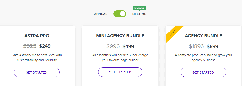 lifetime deals pricing plan