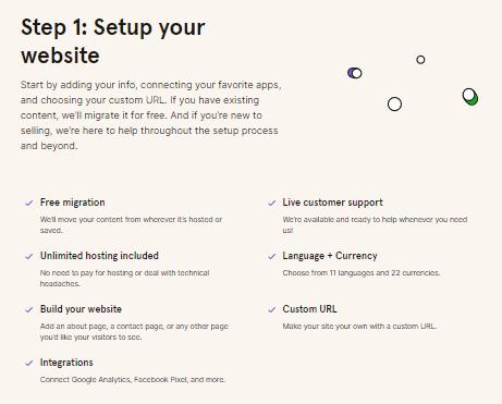 Step 1 : Set up website