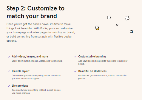 Step 2 ; Customize your Brand