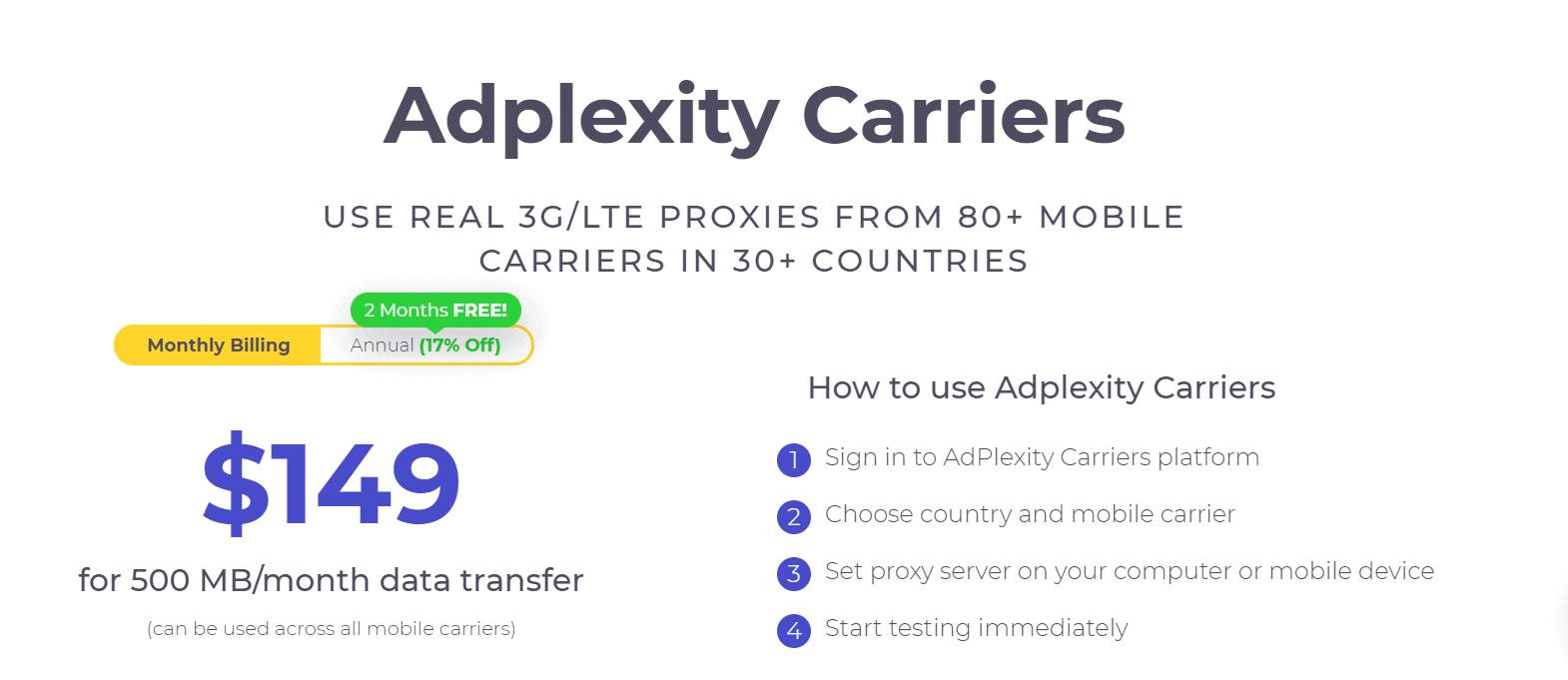 adplexity carriers plan