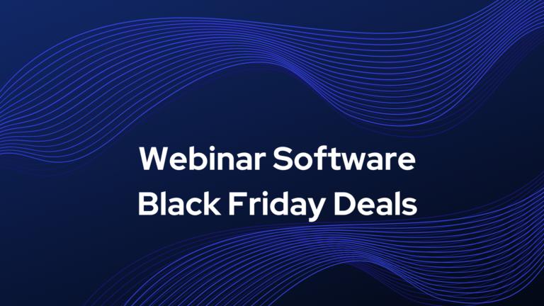 Webinar Software Black Friday Deals
