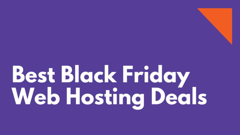 Best Black Friday Web Hosting