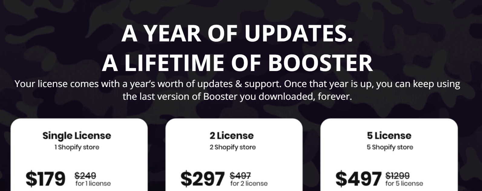 pricing plans of booster