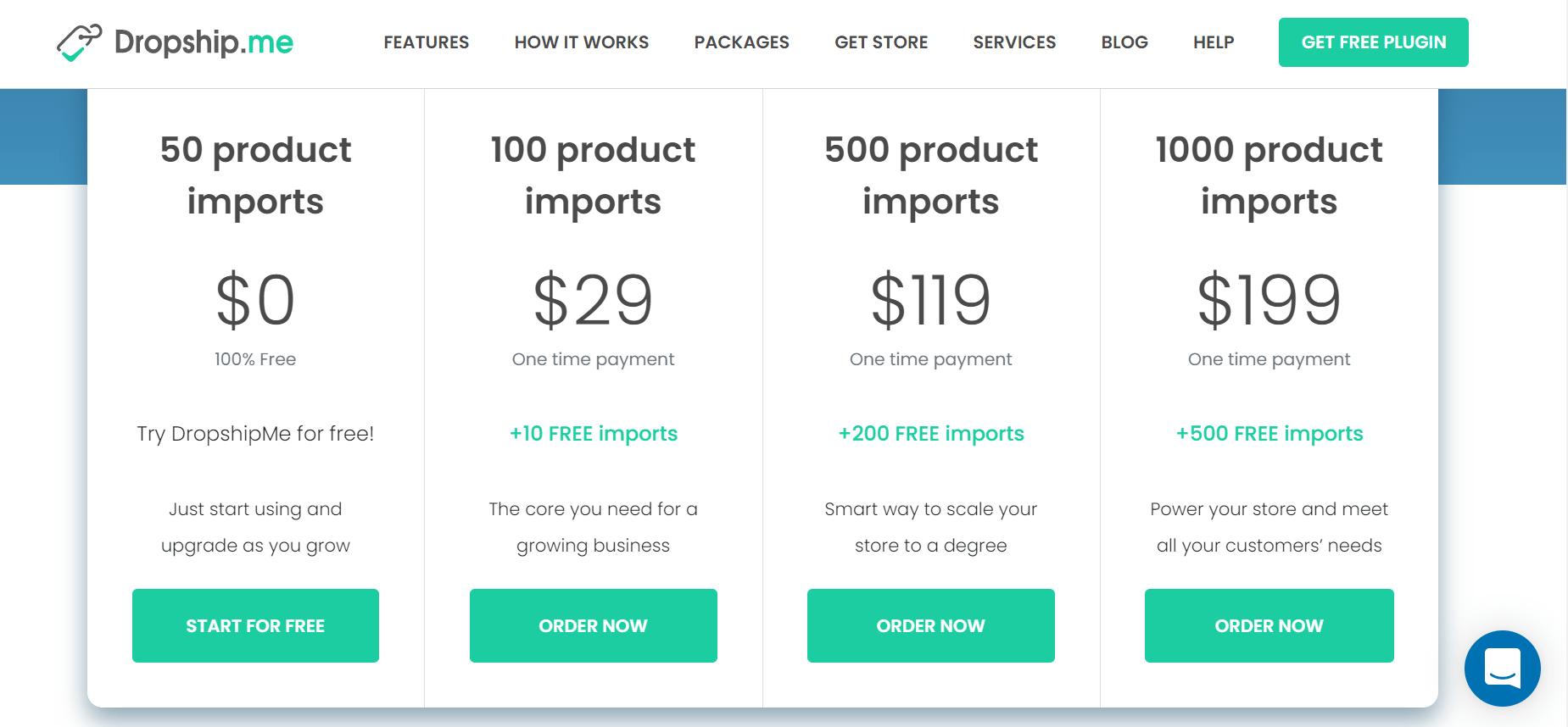 dropship.me pricing