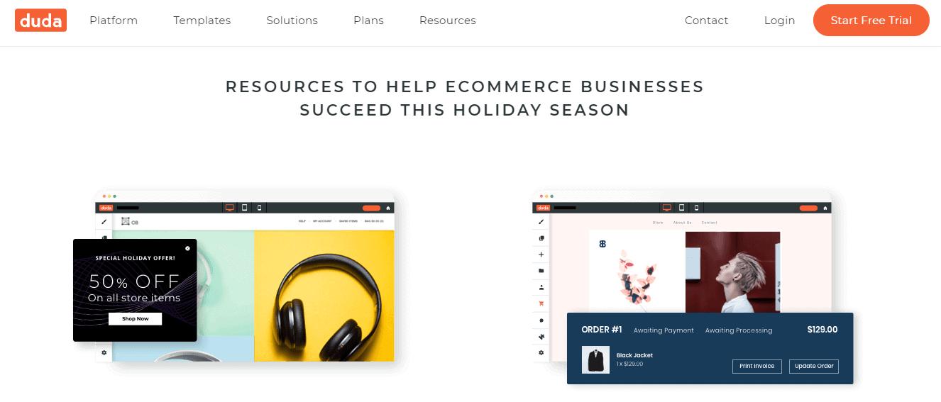 dudamobile website designing tool