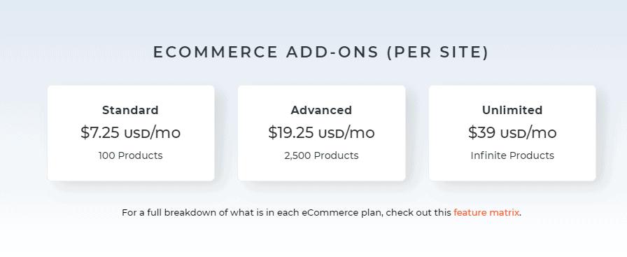 dudamobile black friday- e-commerce add-ons