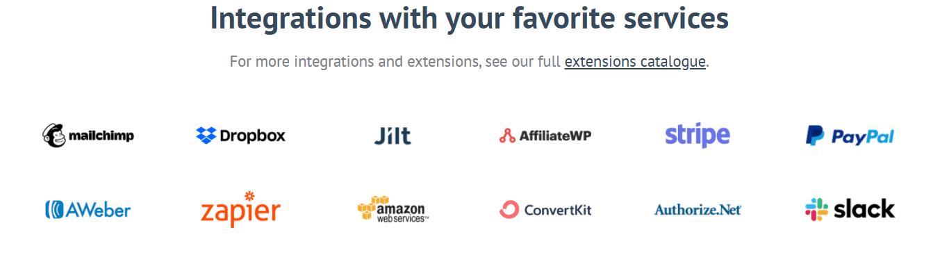 Favorite services Easy Digital Downloads