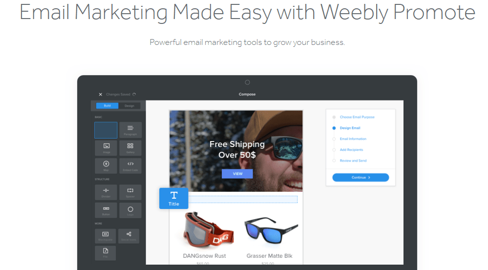 email marketing on weebly
