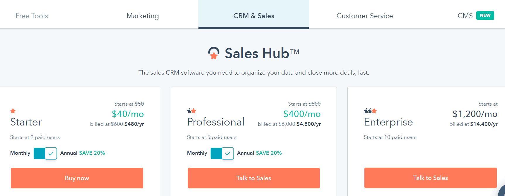 Hubspot Black Friday Deals- CRM & Sales Hub