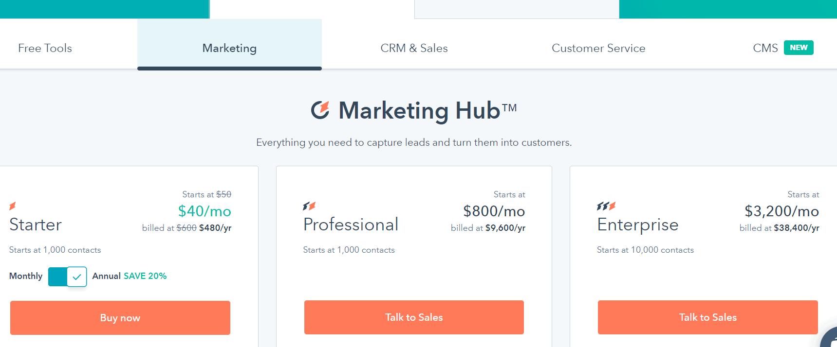 Hubspot Black Friday Deals- Marketing Hub Plan