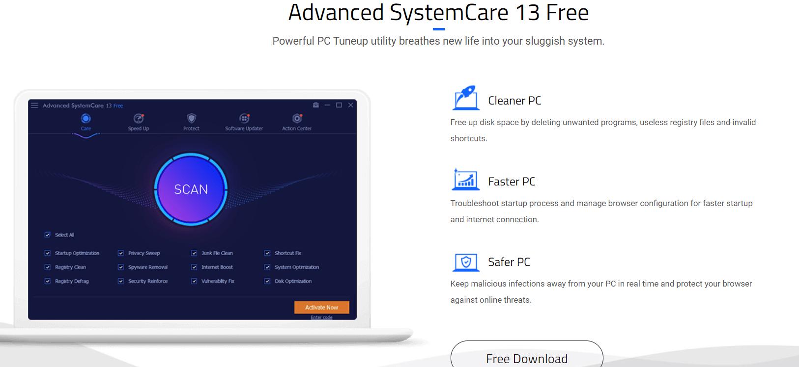 IObit advance system care
