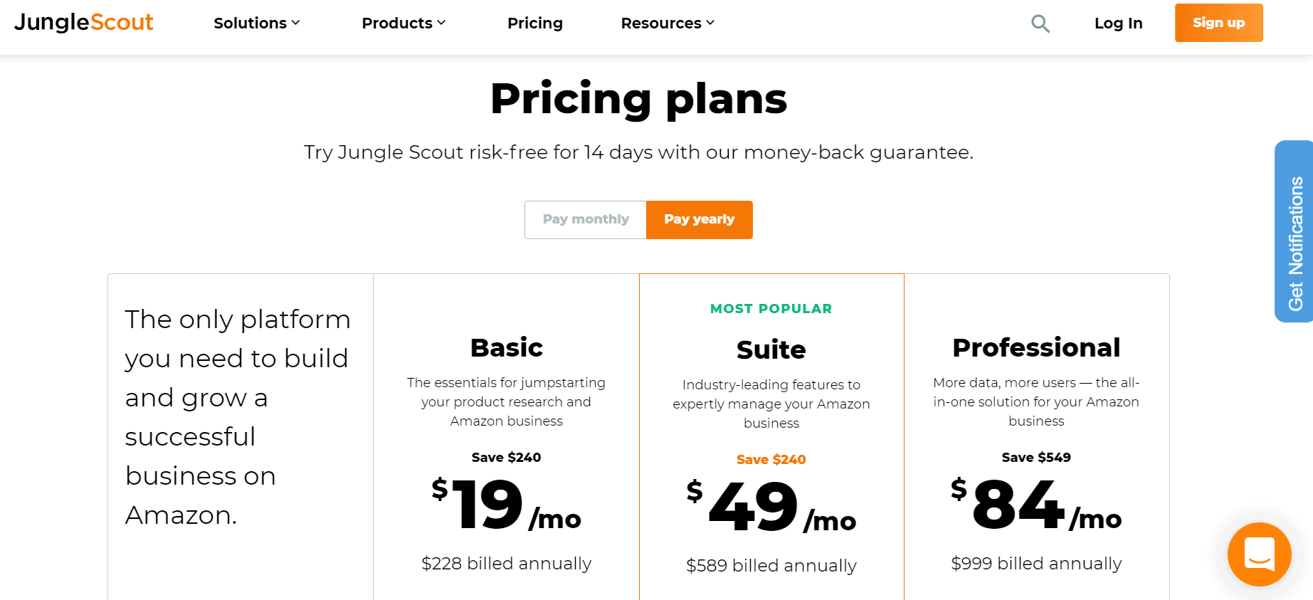 jungle scout pricing plans