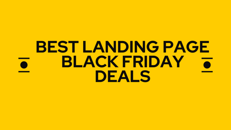 best lanfing page black friday deals