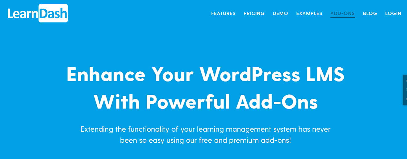 wordpress LMS with powerful add-ons