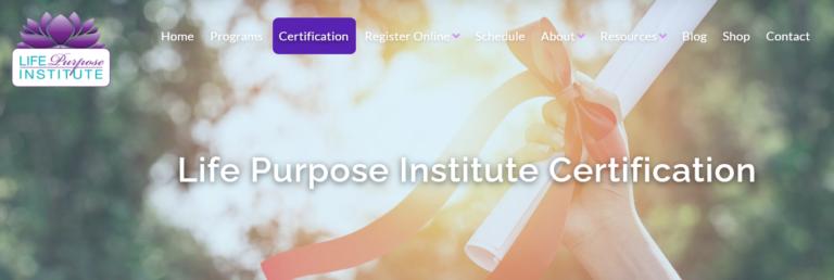 life purpose certification