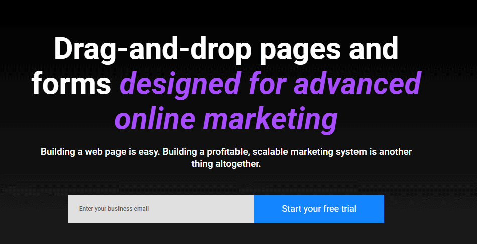 online marketing with drag-and-drop