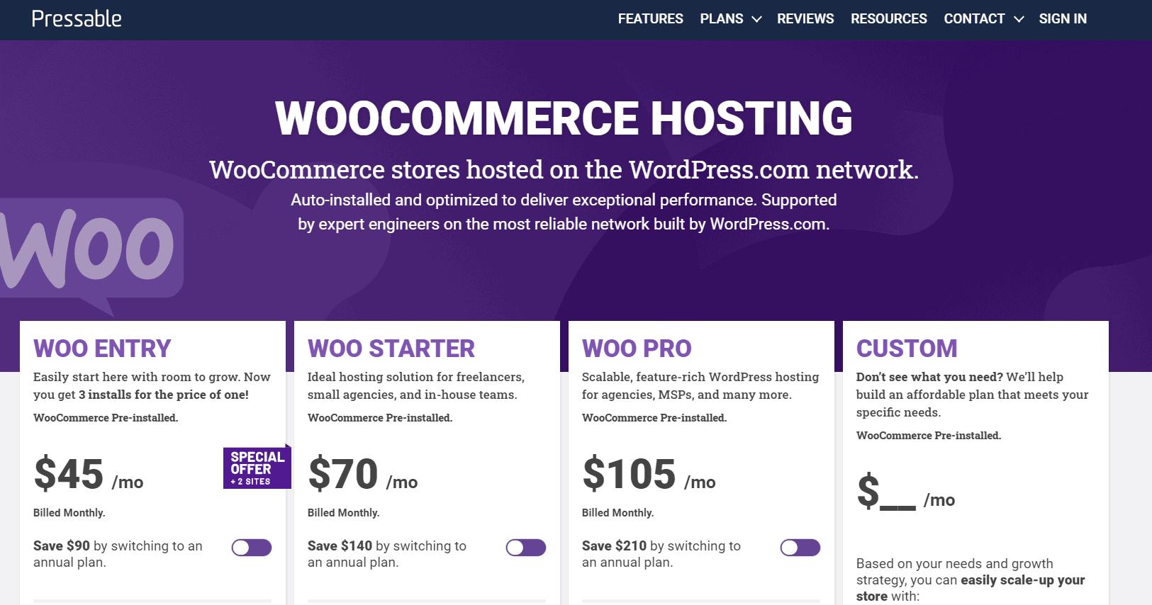 pressable black friday- woocommerce hosting