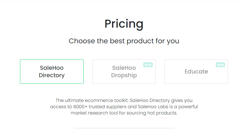 Salehoo Black Friday- salehoo pricing plans