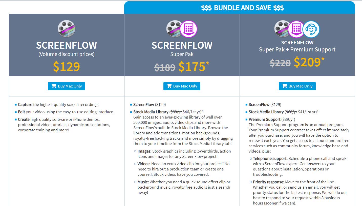 Screenflow Black Friday Sale pricing