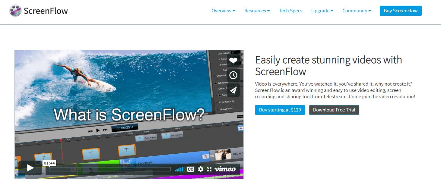 Stunning videos on Screenflow