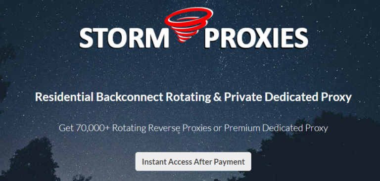 storm proxy black friday