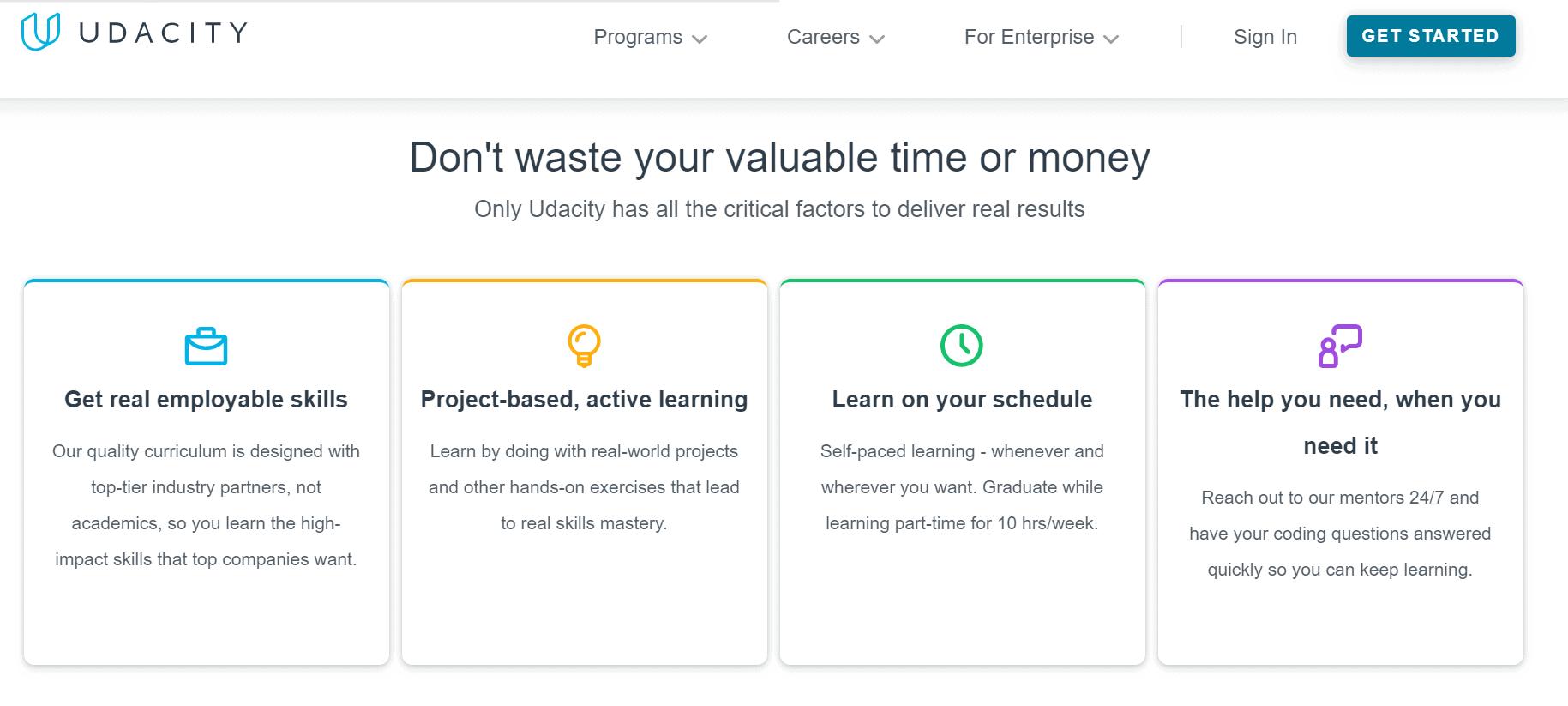 Udacity Learning valuable