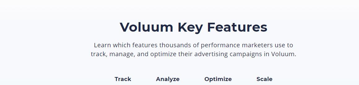 Voluum black friday- features