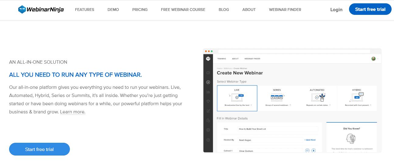 run your webinar